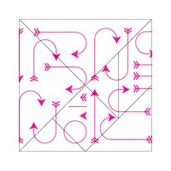 Arrows Girly Pink Cute Decorative Acrylic Tangram Puzzle (6  X 6 )