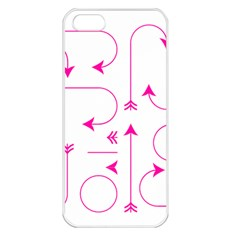Arrows Girly Pink Cute Decorative Apple Iphone 5 Seamless Case (white)