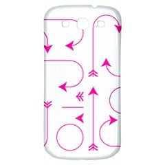 Arrows Girly Pink Cute Decorative Samsung Galaxy S3 S Iii Classic Hardshell Back Case