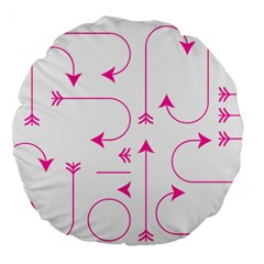 Arrows Girly Pink Cute Decorative Large 18  Premium Round Cushions
