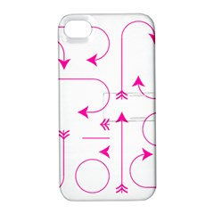 Arrows Girly Pink Cute Decorative Apple Iphone 4/4s Hardshell Case With Stand