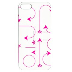 Arrows Girly Pink Cute Decorative Apple Iphone 5 Hardshell Case With Stand