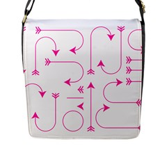 Arrows Girly Pink Cute Decorative Flap Messenger Bag (l)