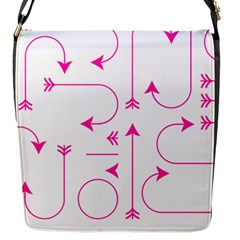 Arrows Girly Pink Cute Decorative Flap Messenger Bag (s)