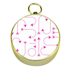 Arrows Girly Pink Cute Decorative Gold Compasses