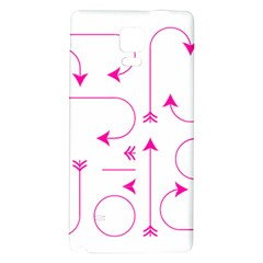 Arrows Girly Pink Cute Decorative Galaxy Note 4 Back Case