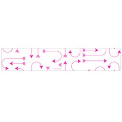 Arrows Girly Pink Cute Decorative Large Flano Scarf