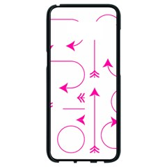 Arrows Girly Pink Cute Decorative Samsung Galaxy S8 Black Seamless Case