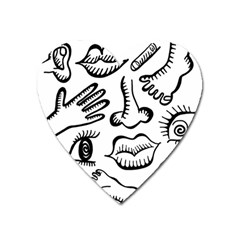 Anatomy Icons Shapes Ear Lips Heart Magnet