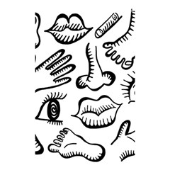 Anatomy Icons Shapes Ear Lips Shower Curtain 48  X 72  (small)