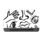 Anatomy Icons Shapes Ear Lips Memory Card Reader with CF Front