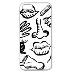 Anatomy Icons Shapes Ear Lips Apple Seamless Iphone 5 Case (clear)