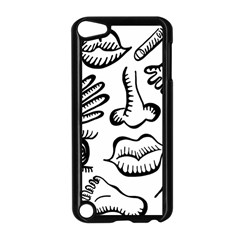 Anatomy Icons Shapes Ear Lips Apple Ipod Touch 5 Case (black)