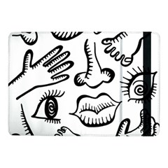 Anatomy Icons Shapes Ear Lips Samsung Galaxy Tab Pro 10 1  Flip Case