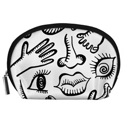 Anatomy Icons Shapes Ear Lips Accessory Pouches (large)