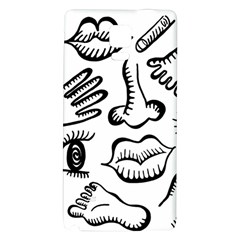 Anatomy Icons Shapes Ear Lips Galaxy Note 4 Back Case