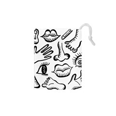 Anatomy Icons Shapes Ear Lips Drawstring Pouches (xs)