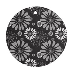 Floral Pattern Floral Background Ornament (round)