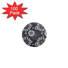 Floral Pattern Floral Background 1  Mini Magnets (100 Pack)