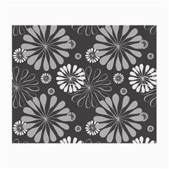 Floral Pattern Floral Background Small Glasses Cloth
