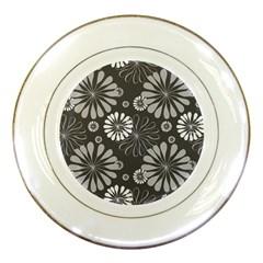 Floral Pattern Floral Background Porcelain Plates