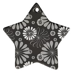 Floral Pattern Floral Background Star Ornament (two Sides)