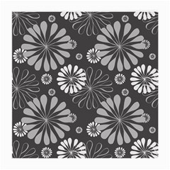 Floral Pattern Floral Background Medium Glasses Cloth (2 Side)