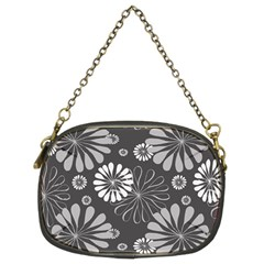 Floral Pattern Floral Background Chain Purses (two Sides)