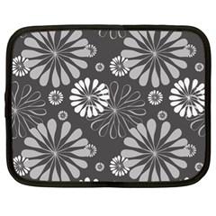 Floral Pattern Floral Background Netbook Case (xl)