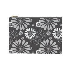 Floral Pattern Floral Background Cosmetic Bag (large)