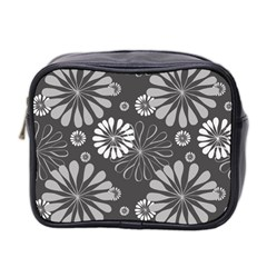 Floral Pattern Floral Background Mini Toiletries Bag 2 Side