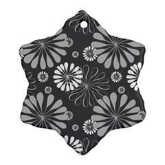 Floral Pattern Floral Background Snowflake Ornament (two Sides)