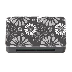 Floral Pattern Floral Background Memory Card Reader With Cf