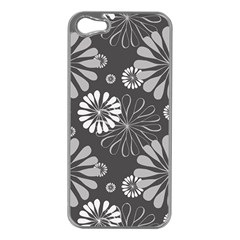 Floral Pattern Floral Background Apple Iphone 5 Case (silver)