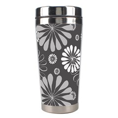 Floral Pattern Floral Background Stainless Steel Travel Tumblers