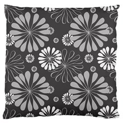 Floral Pattern Floral Background Large Flano Cushion Case (one Side)