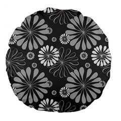 Floral Pattern Floral Background Large 18  Premium Flano Round Cushions