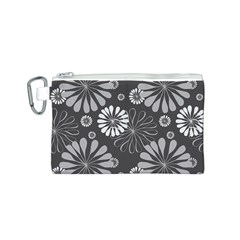 Floral Pattern Floral Background Canvas Cosmetic Bag (s)