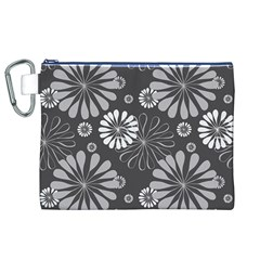 Floral Pattern Floral Background Canvas Cosmetic Bag (xl)