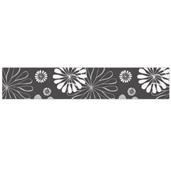 Floral Pattern Floral Background Large Flano Scarf