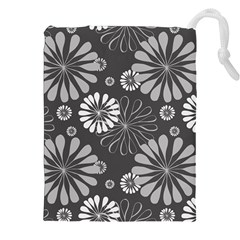 Floral Pattern Floral Background Drawstring Pouches (xxl)