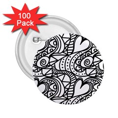 Seamless Tile Background Abstract 2 25  Buttons (100 Pack)