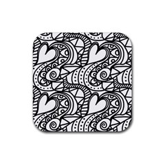 Seamless Tile Background Abstract Rubber Coaster (square)