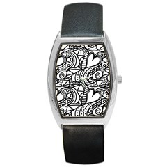 Seamless Tile Background Abstract Barrel Style Metal Watch