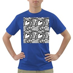 Seamless Tile Background Abstract Dark T Shirt