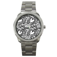 Seamless Tile Background Abstract Sport Metal Watch