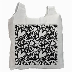 Seamless Tile Background Abstract Recycle Bag (one Side)