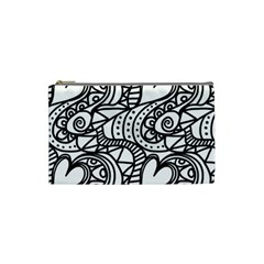 Seamless Tile Background Abstract Cosmetic Bag (small)