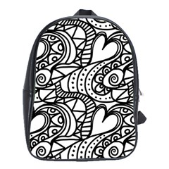 Seamless Tile Background Abstract School Bag (large)