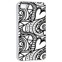 Seamless Tile Background Abstract Apple Iphone 4/4s Seamless Case (white)